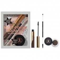 Лимитированный набор Anastasia Beverly Hills Melt-Proof Brow Kit Dark Brown (полноразмерные продукты: помадка для бровей 4гр + гель для бровей 4,4гр + кисть для бровей Brush 12)