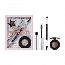 Лимитированный набор Anastasia Beverly Hills Ombré Brow Kit Dark Brown (тени для бровей 0,8гр + гель для бровей 2,5мл + кисть Brush 7B)