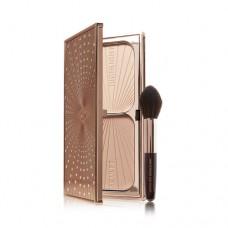 Лимитированный набор Charlotte Tilbury Limited Edition Filmstar Bronze & Glow Set Highlighter & Brush Kit (палетка для лица + кисть) 22,5гр