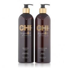 Набор для волос с аргановым маслом CHI Argan Oil (Шампунь 739мл + Кондиционер 739мл)