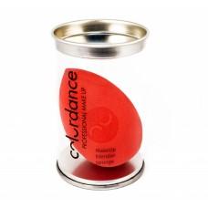 Спонж для макияжа Colordance капля (оранжевый) в тубусе