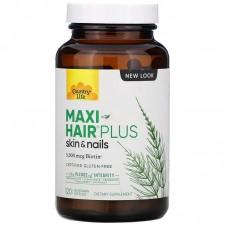 Витамины для волос, кожи и ногтей Country Life Maxi-Hair Plus, 5000 мкг, 120 капсул