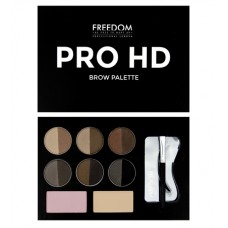 Палетка для макияжа бровей Freedom Makeup London Pro HD Medium Dark 10гр