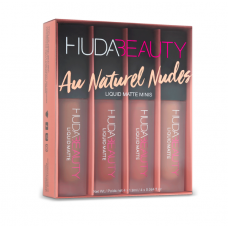 Набор матовых помад HUDA BEAUTY Liquid Matte Minis - Au Naturel Nudes 4х1.9мл