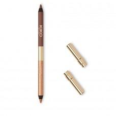 Стойкий двухсторонний карандаш для глаз KIKO MAGICAL HOLIDAY DUO EYELINER 02 Brown & Bronze