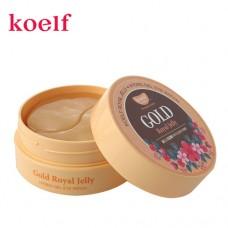 Гидрогелевые патчи для глаз с золотом и маточным молочком KOELF Gold & Royal Jelly Eye Patch 60шт