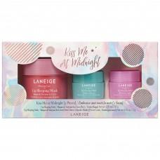 Лимитированный набор для губ LANEIGE Kiss Me at Midnight (маски для губ Berry 20гр + Mint Choco 3гр + Sweet Candy 3гр)