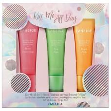 Лимитированный набор бальзамов для губ LANEIGE Kiss Me All Day (бальзамы для губ Berry 10гр + Peach 10гр +  Pear 10гр)