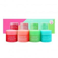 Набор ночных масок для губ LANEIGE Lip Sleeping Masks kit 4х8 мл