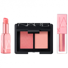 Лимитированный набор NARS Orgasm Mini Set (блеск 3,5мл + бальзам 1,1гр + палетка мини 5гр)