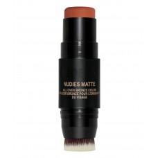 Кремовый бронзер для лица NUDESTIX Nudies Matte Blush & Bronze Sunkissed 7гр