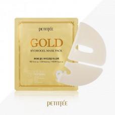 Гидрогелевая маска для лица с золотым комплексом +5 PETITFEE Gold Hydrogel Mask Pack +5 golden complex