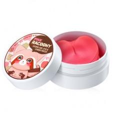Патчи под глаза Secret Key Pink Racoony Hydro Gel Eye & Cheek Patch 60штук