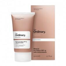 Солнцезащитный крем для лица с минеральными фильтрами The Ordinary Mineral UV Filters SPF 15 With Antioxidants 50мл