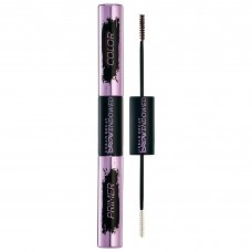 Двустороннее средство для бровей Urban Decay Brow Endowed Eyebrow Primer + Color (праймер 3,55гр + оттеночный гель 4,25гр) Dark Drapes - dark brown