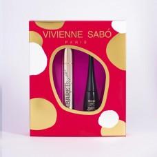 Набор Vivienne Sabo: тушь для ресниц Cabaret Premiere Mascara черная + жидкая подводка для глаз Charbon черная
