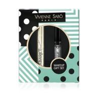Подарочный набор Vivienne Sabo (Тушь для ресниц с эффектом сценического объема Cabaret Premiere Mascara 9мл черная + Гель для бровей Fixateur 6мл прозрачный)