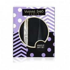 Подарочный набор Vivienne Sabo (Тушь для ресниц с эффектом сценического объема Cabaret Premiere Mascara 9мл черная + Подводка для глаз Charbon 6мл черная)