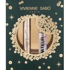 Набор Vivienne Sabo: тушь для ресниц Cabaret Premiere Mascara черная + гель для бровей фиксирующий прозрачный Fixateur Superb